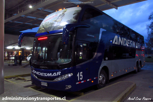 Bus Andesmar Chile en Valdivia