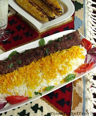 Persian Grilled Ground Lamb on Skewers