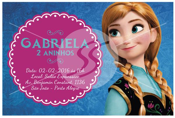Convite de aniversario frozen convites - Convite Aniversário Frozen