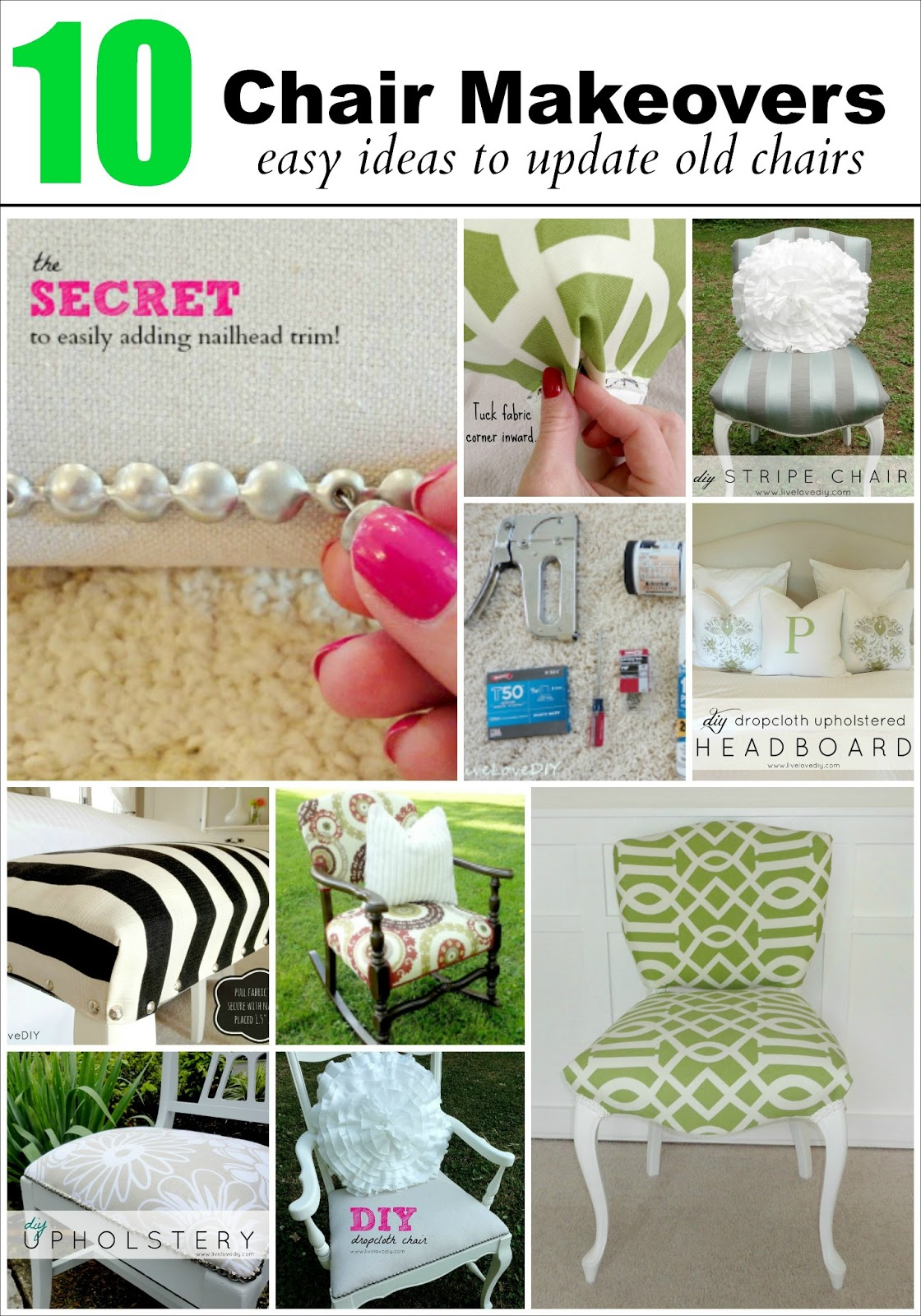 How To Reupholster A Chair My 10 Best Makeovers