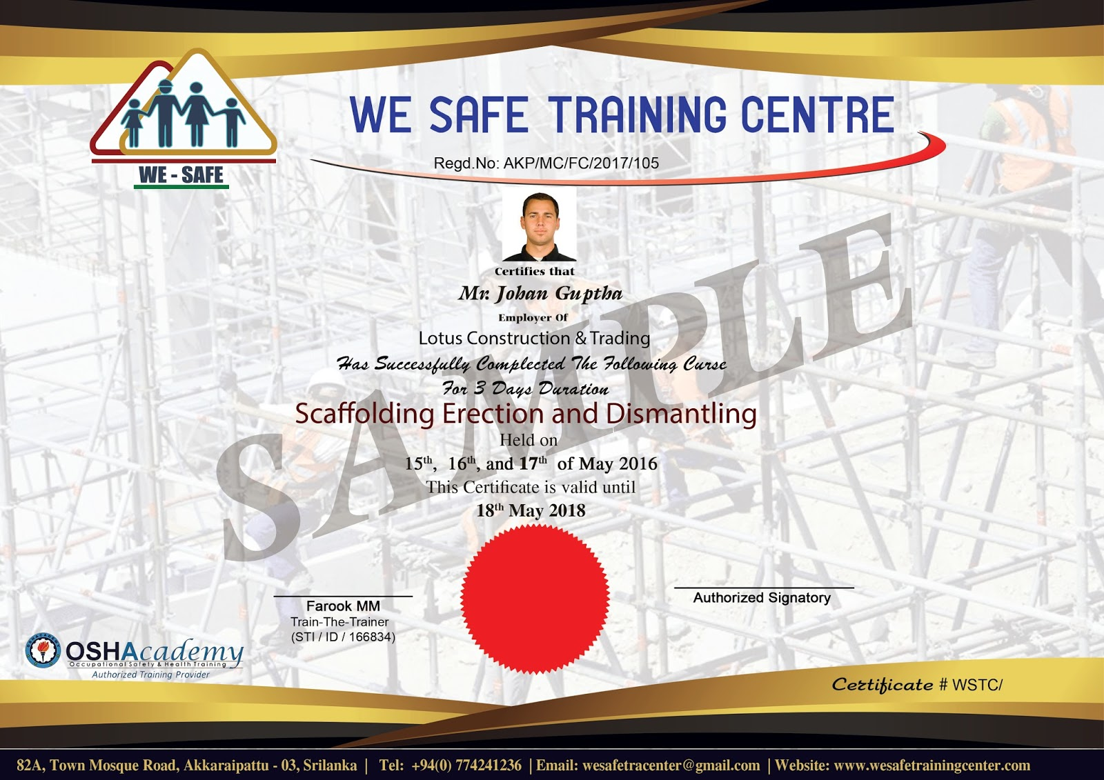 Wesafetrainingcenter certificate 1betcityfo Images