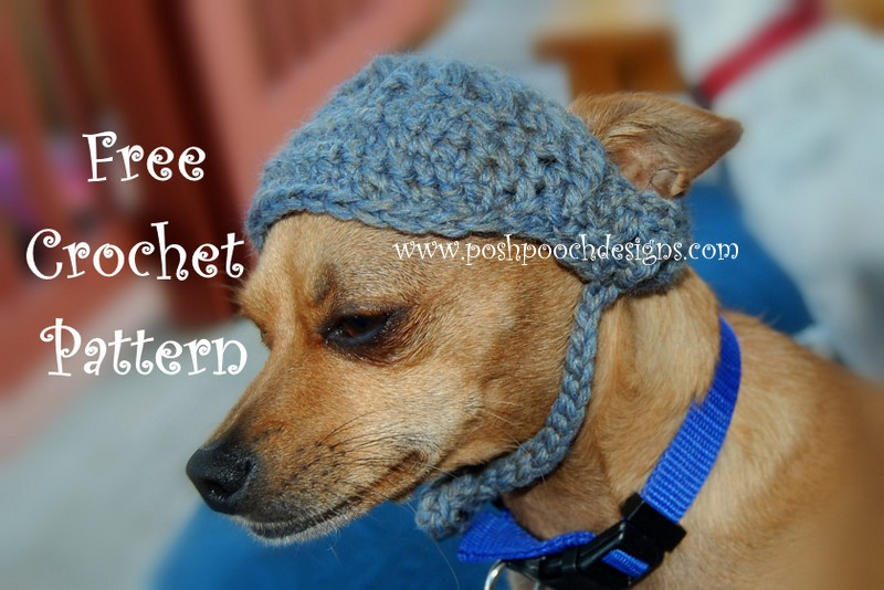 Posh Pooch Designs Dog Clothes Visor For Dogs Crochet Pattern