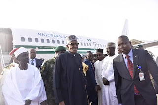 BREAKING NEWS: President Buhari Is Back To Nigeria In Airforce One 1