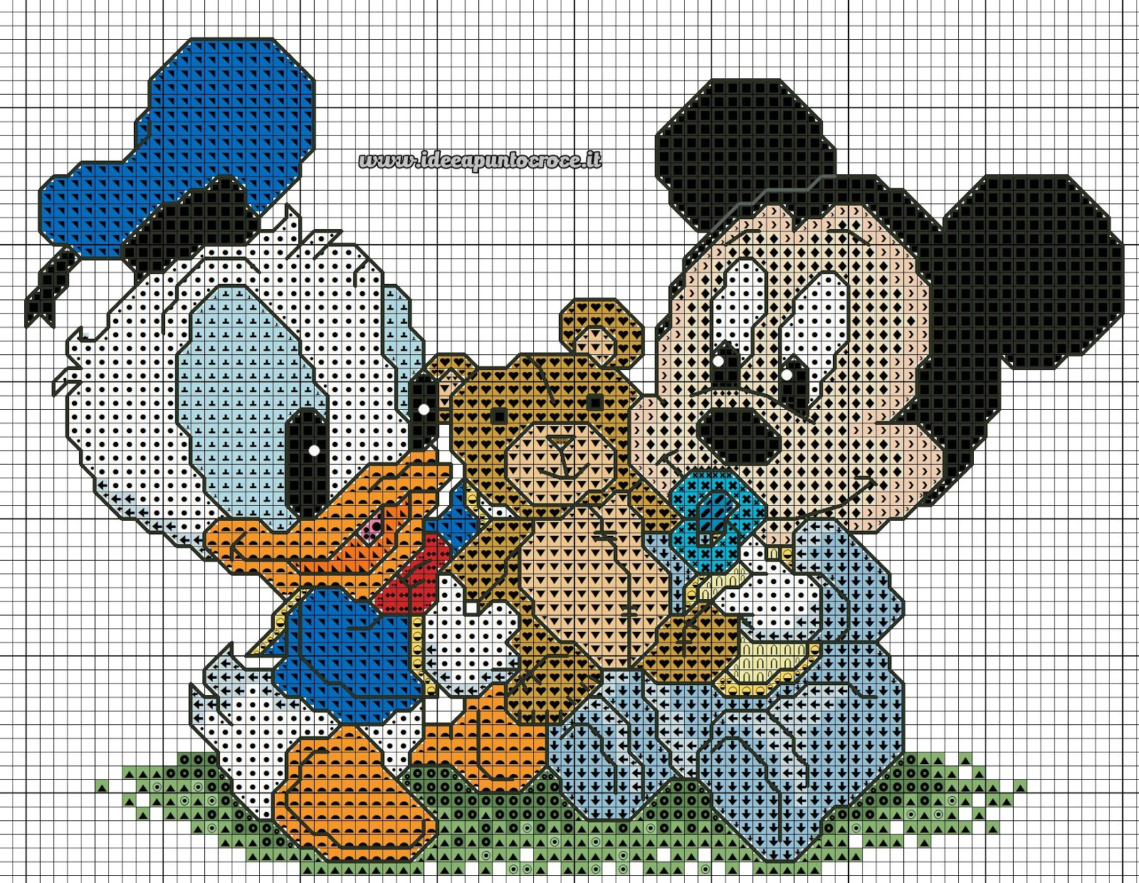 Schemi Disney A Punto Croce Topolino E Minnie In
