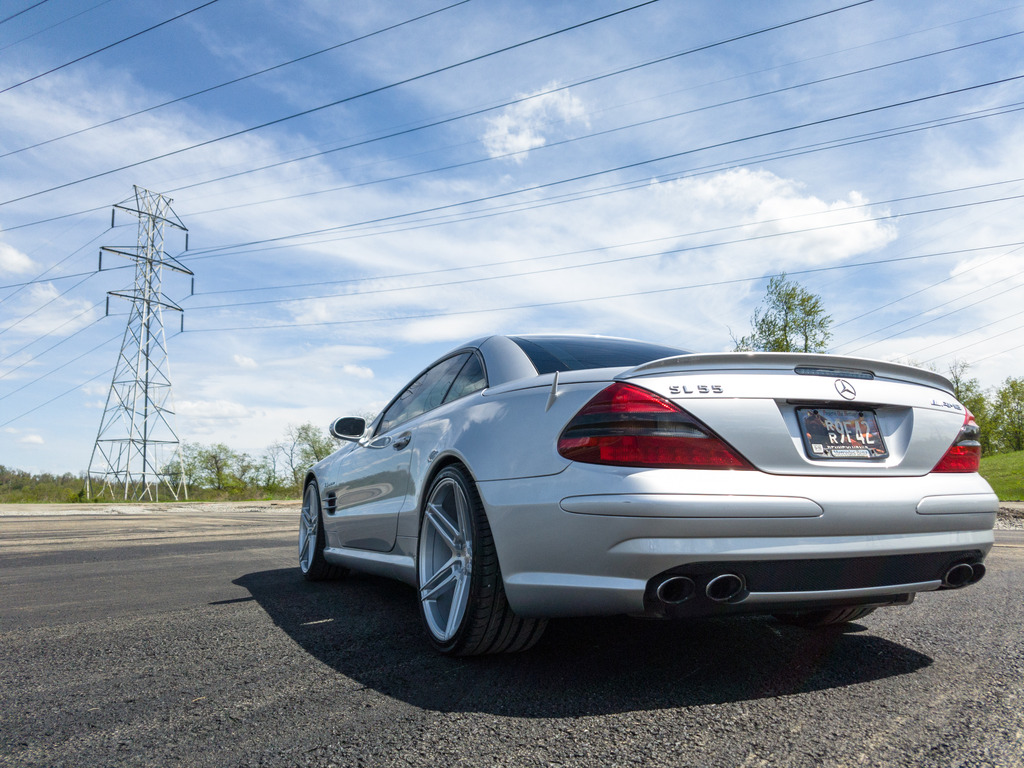 2003 mercedes benz r230 sl55 amg on r20 niche wheels for Amg wheels for mercedes benz