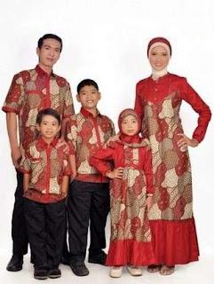 Sarimbit batik keluarga kombinasi