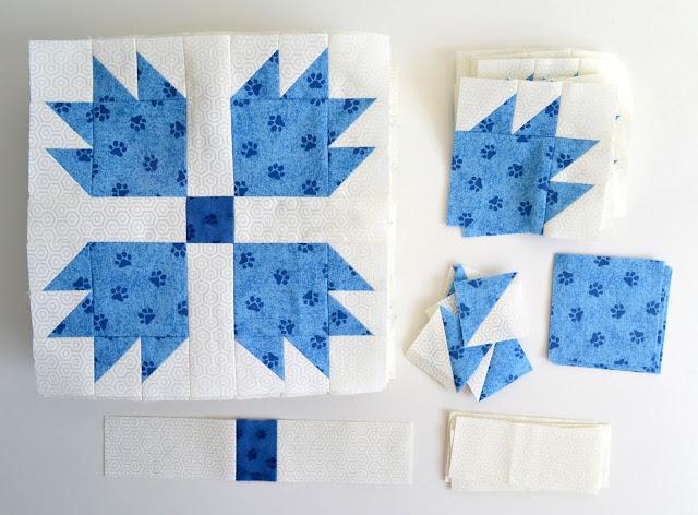 Sew Fresh Quilts Mod Bear Paw Qal Constructing The Bear