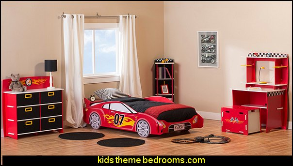 car beds - car racing theme bedrooms - theme beds - car beds - race car beds - cars - transportation theme - construction theme - boys bedroom ideas - garage themed bedrooms - boys racing cars themed bedrooms - Car Themed Bedrooms for Teenagers - car beds for kids