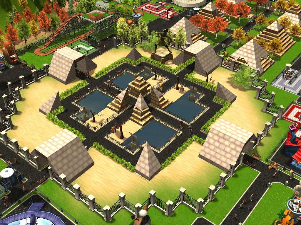 Roller Coaster Tycoon 3 Downloads: RCT3 Egyptian Vanilla Hills Park