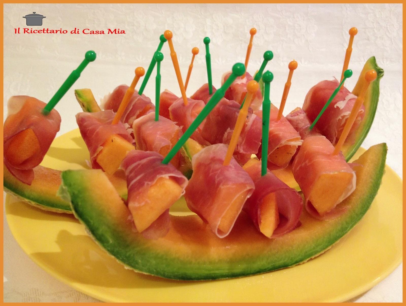 abbastanza Il Ricettario di Casa Mia: Stuzzichini di Prosciutto Crudo e Melone PT42