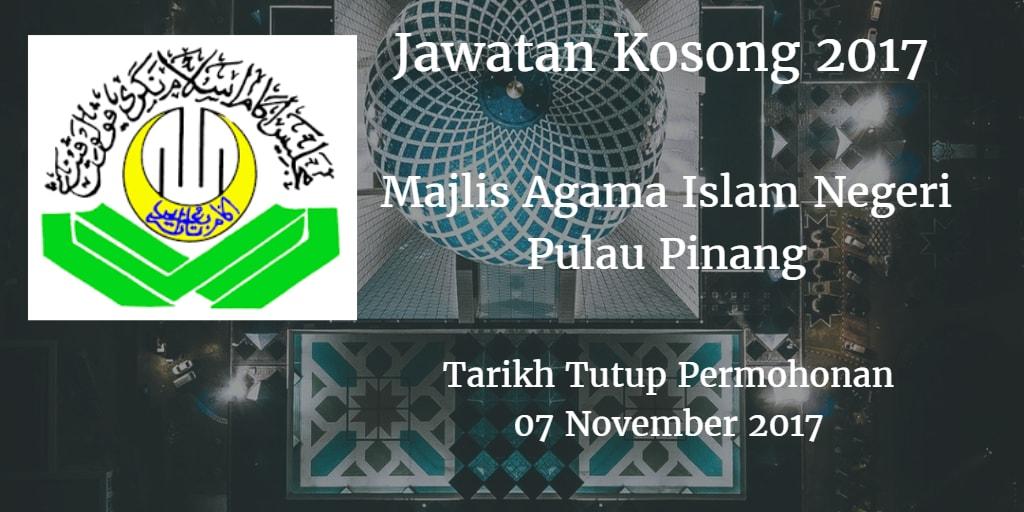 Jawatan Kosong MAINPP 07 November 2017