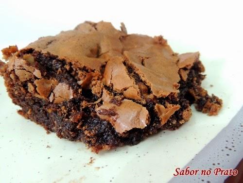 receita de brownie de chocolate fácil de fazer
