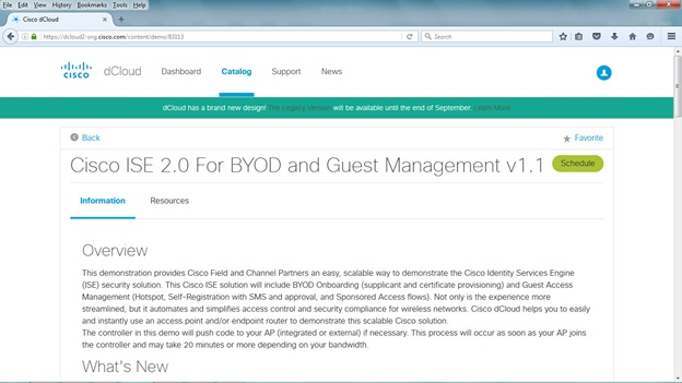 My Network Lab: Cisco dCloud Free Virtual Labs