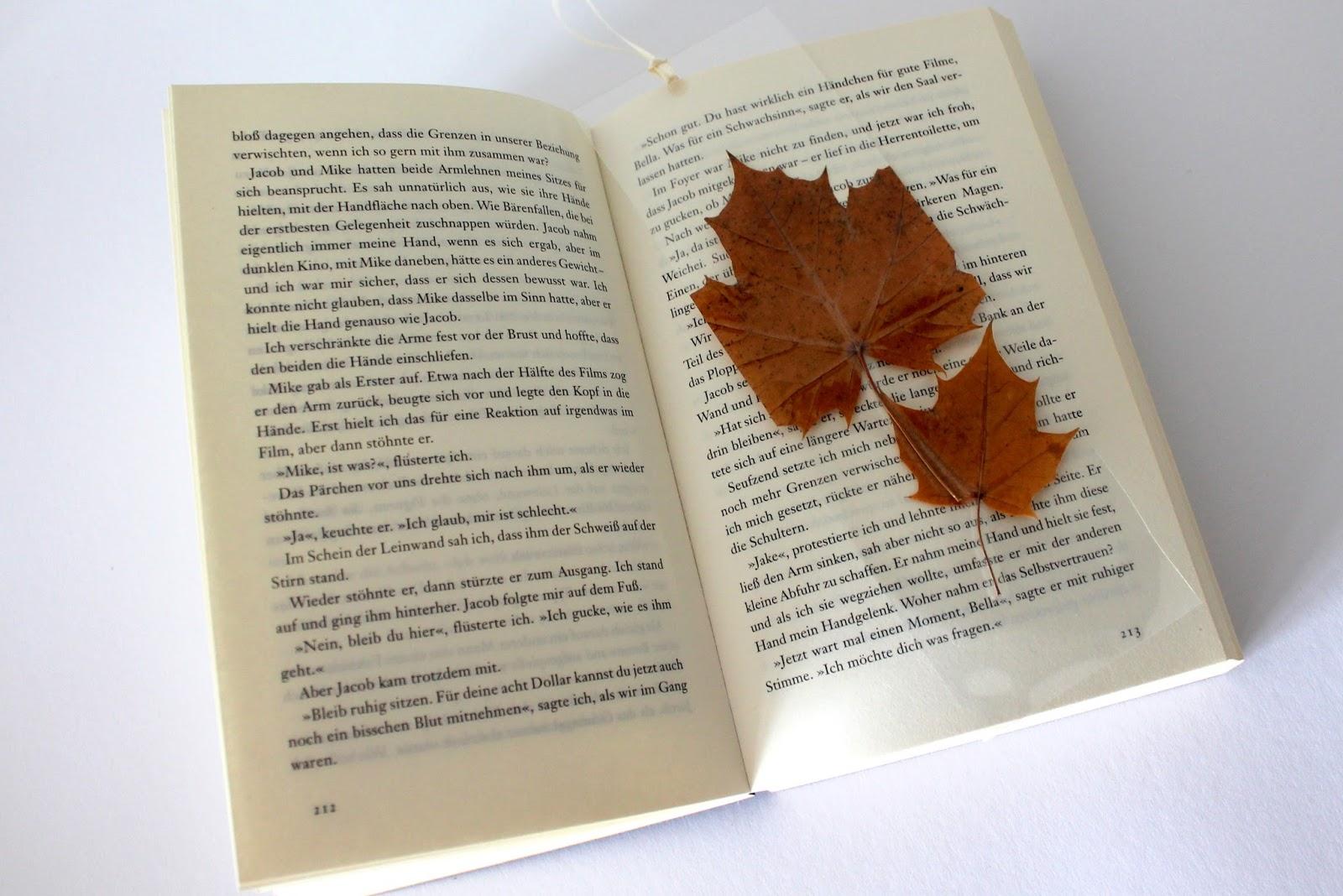 DIY, Basteln: Buchlesezeichen in Herbstdekoration und Geschenkideen - DIYCarinchen