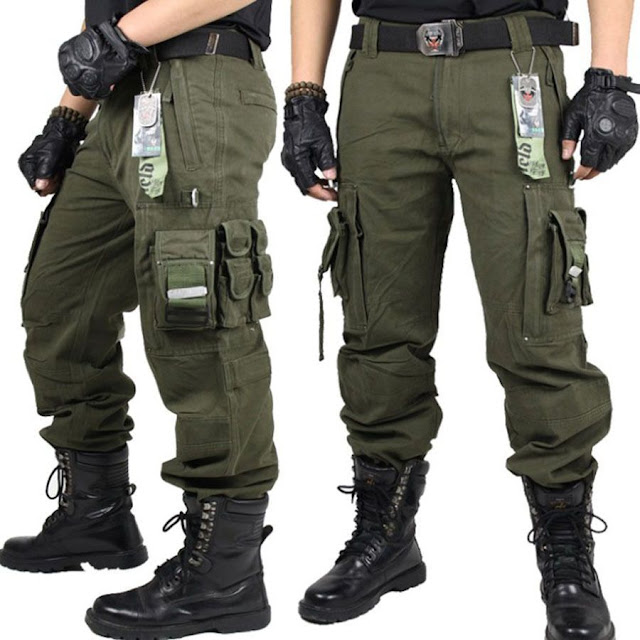 Celana Tactical Banyak Kantong Import Keren Murah Bahan Canvas