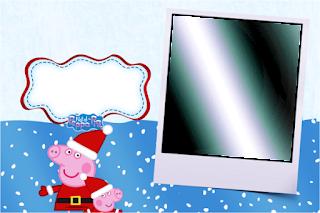 Para hacer invitaciones, tarjetas, marcos de fotos o etiquetas, para imprimir gratis de Peppa Pig en Navidad.