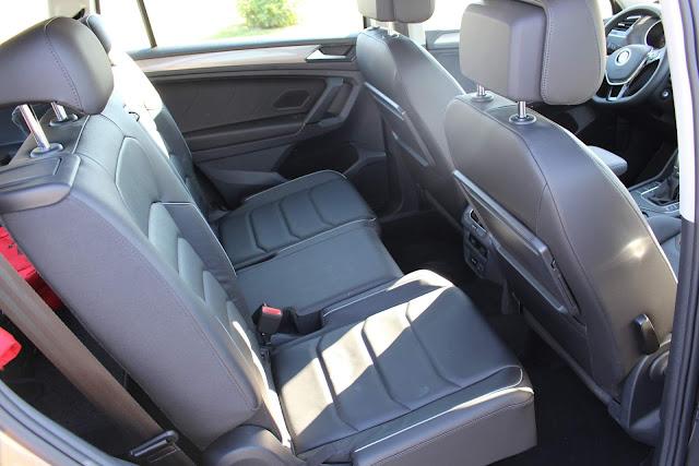 Volkswagen Tiguan 2019 Flex 7 lugares - espaço traseiro