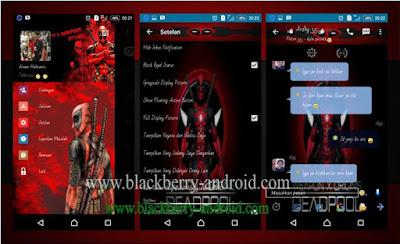 BBM MOD Deadpool Themes New V.2.12.0.11 APK