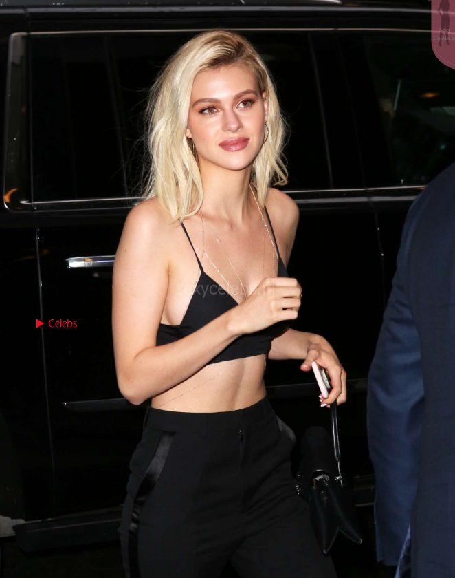 Nicola Peltz wearing just a sexy revealing bra WOW Arrives at the Wind River Screening 03.08.2017