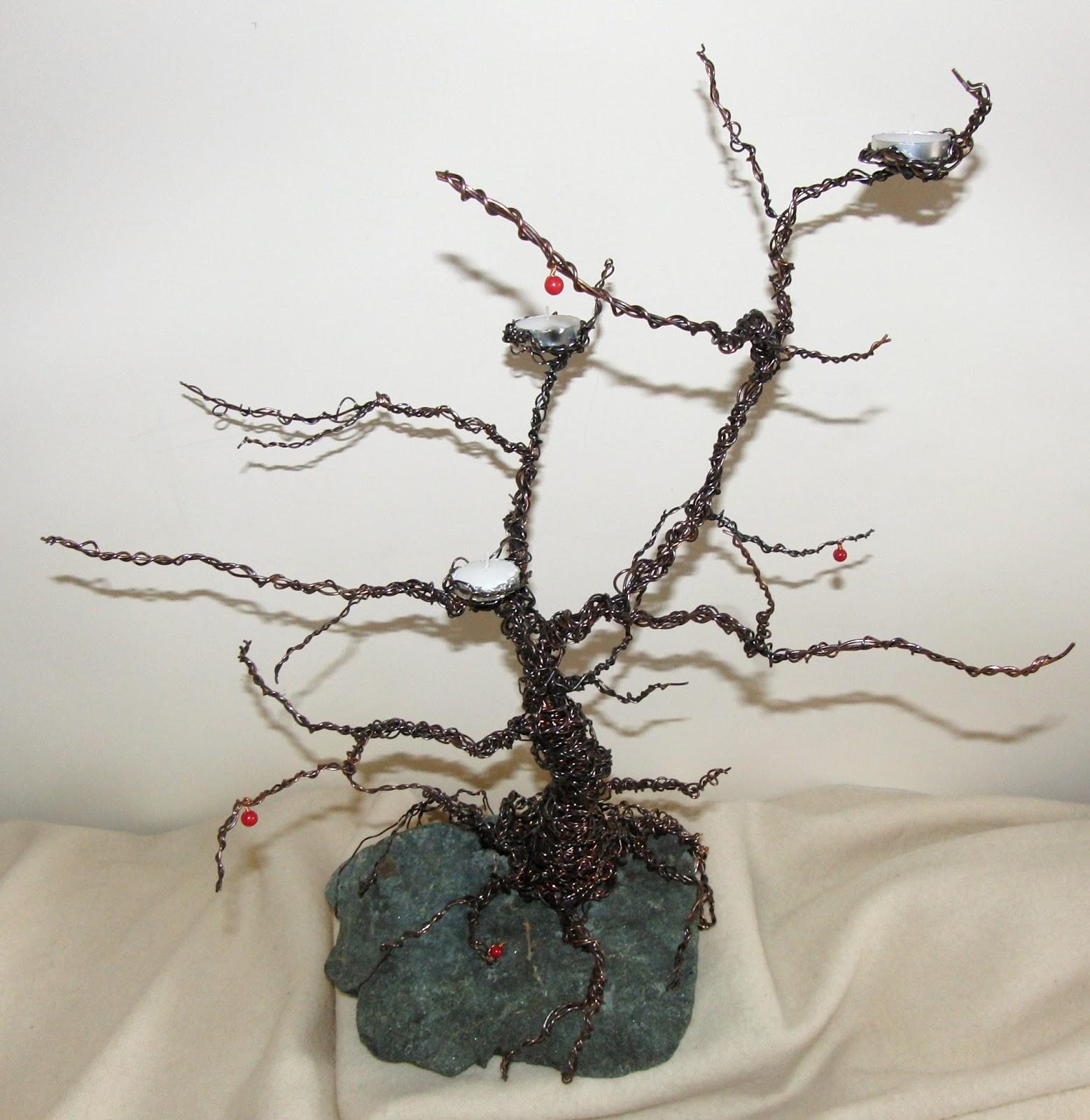 PszczolaArt Drzewko Bonsai Z Drutu Nr 1 Wiecznik Wire