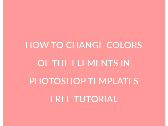 How to change colors of the elements in PS Templates Free Photoshop Tutorial