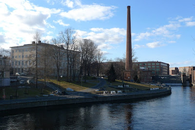 A view towards the venue(s), Finlayson area in Tampere.