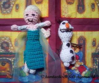 Eiskönigin-und-Schneemann-gehäkelt