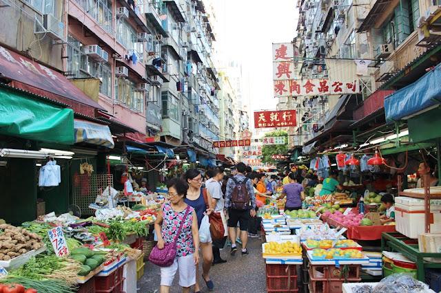 Gemüsemarkt, Hong Kong, Obst