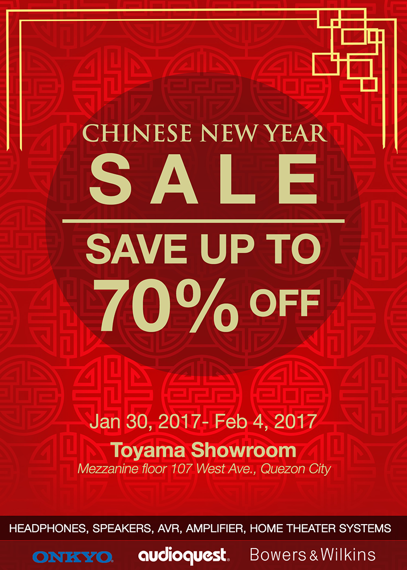 CNY audio sale at Toyama Showroom 2017!