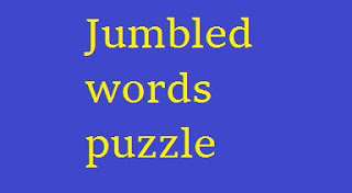 Jumbled words puzzle