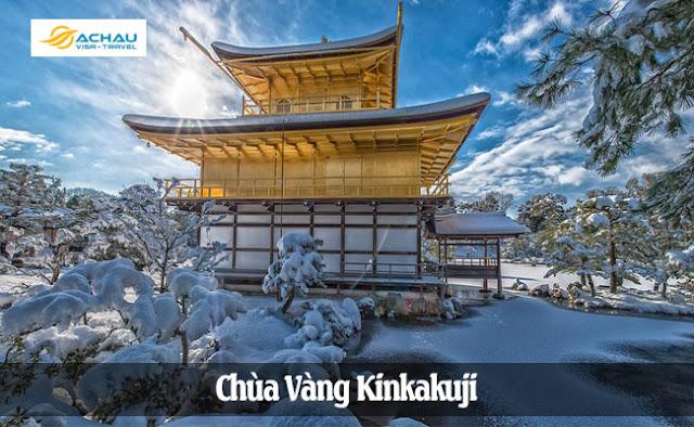 Chùa vàng - Những điểm đến Nhật Bản đẹp nhất vào mùa đông