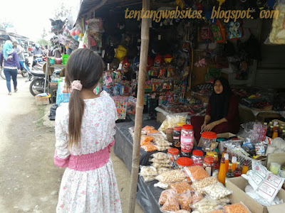 Keadaan Pasar Megang sakti menjelang lebaran