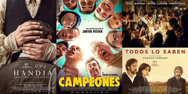 'Handia', 'Campeones' y 'Todos los saben', las tres películas preseleccionadas para representar a España en los Oscar