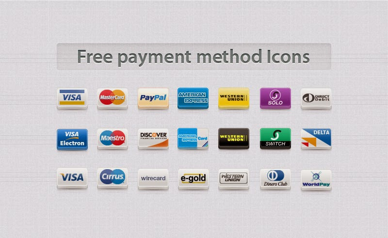 40 Best Free Credit Card Icons Set