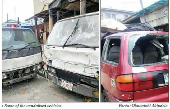 Hoodlums vandalise 18 vehicles, rob traders openly in Lagos