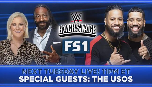 The Usos são anunciados para o WWE Backstage da próxima semana