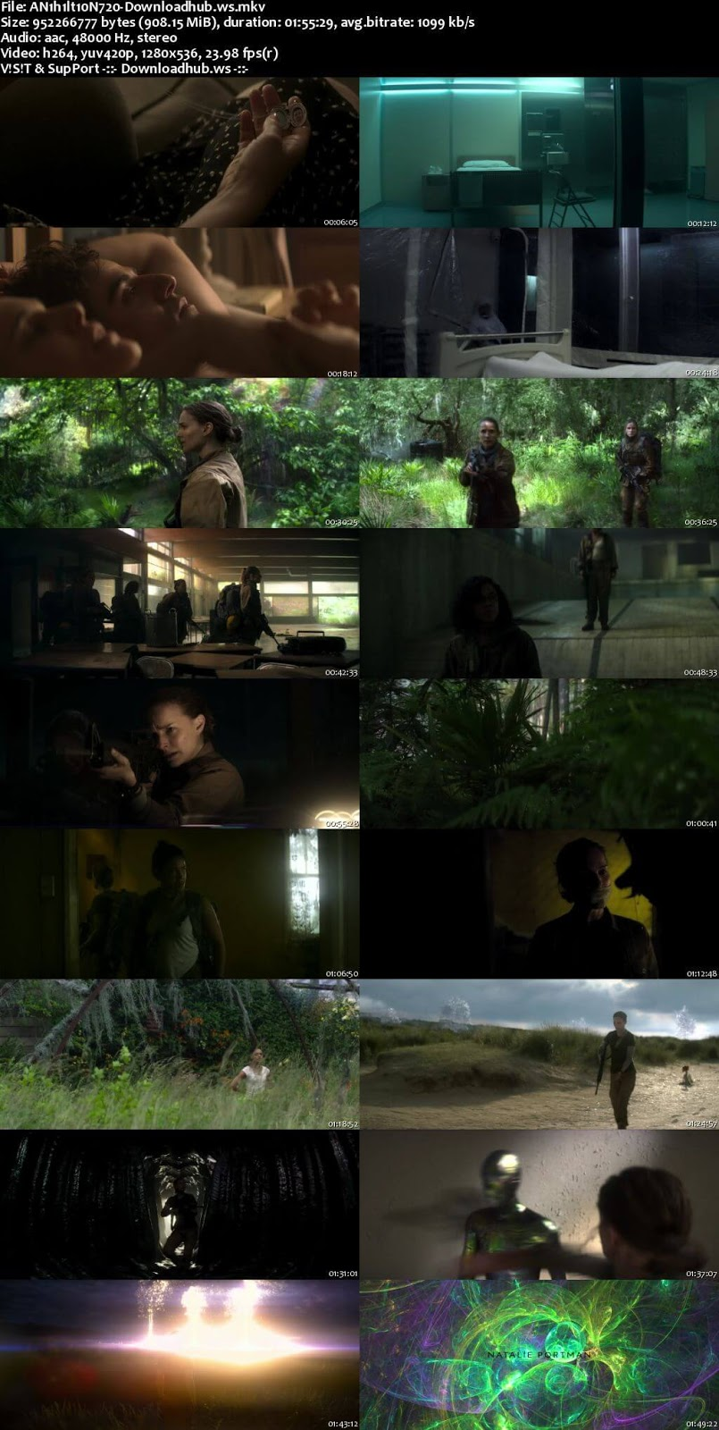 Annihilation 2018 English 720p WEBRip 900MB MSubs