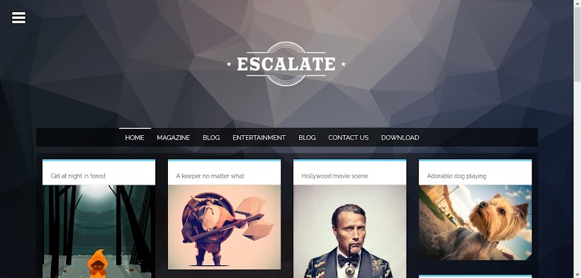 Escalate Free Blogger Template