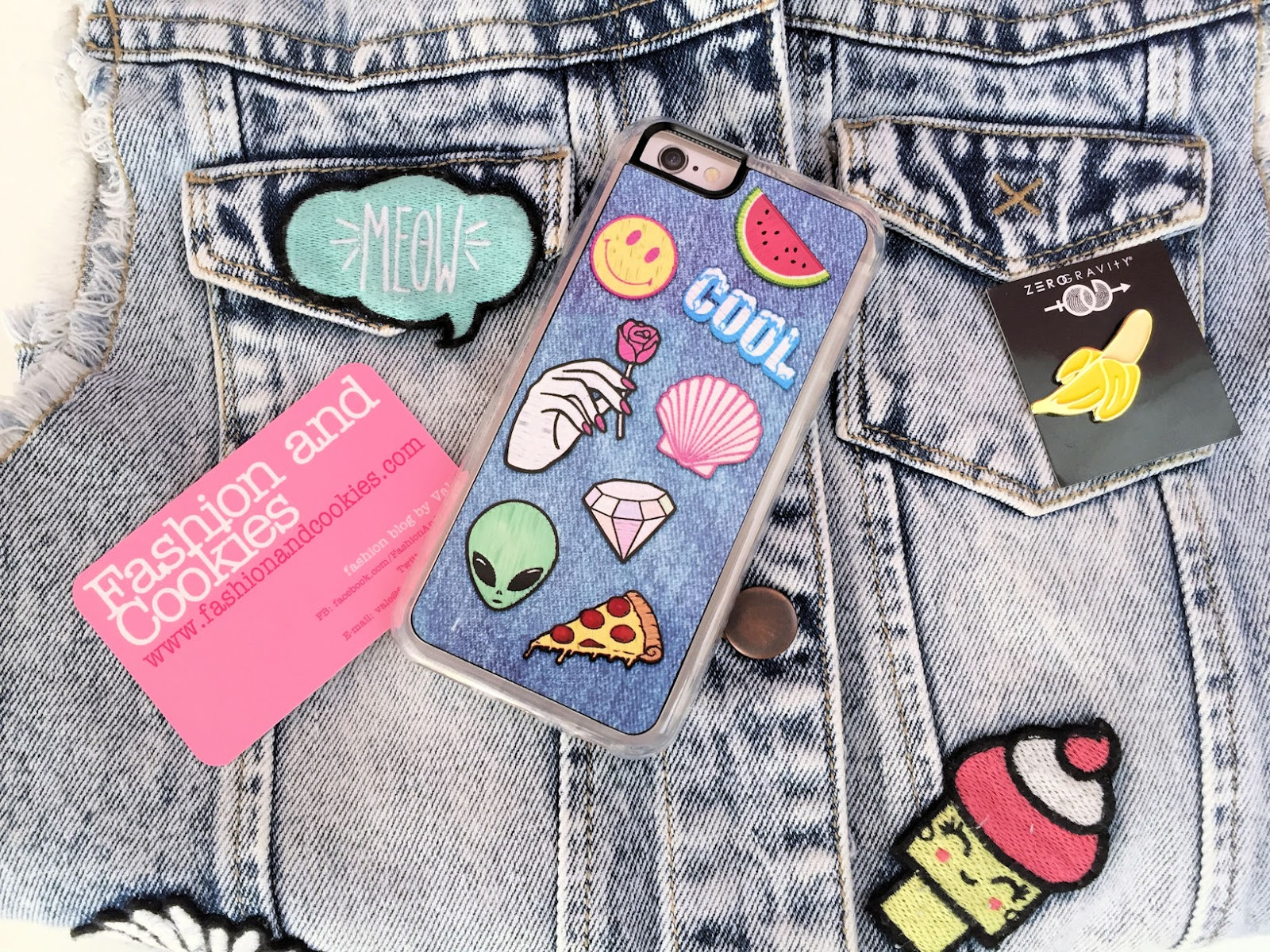 Zero Gravity iPhone 6 case with patched denim on Fashion and Cookies fashion and beauty blog, fashion blogger