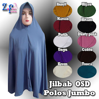 Jilbab Syar'i Jersey OSD Pet Polos Murah