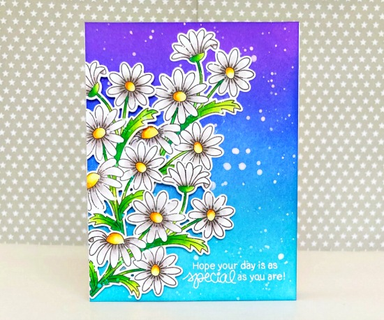 Daisy Card by Samantha Mann | Dainty Daisies Stamp Set by Newton's Nook Designs #newtonsnook #handmade
