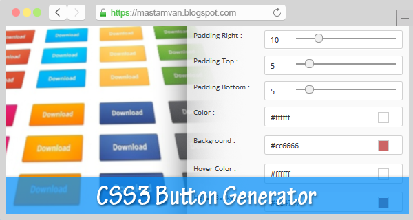 Simple Css Button Generator