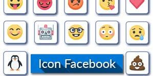 1000 icon facebook - biểu tượng cảm xúc fb