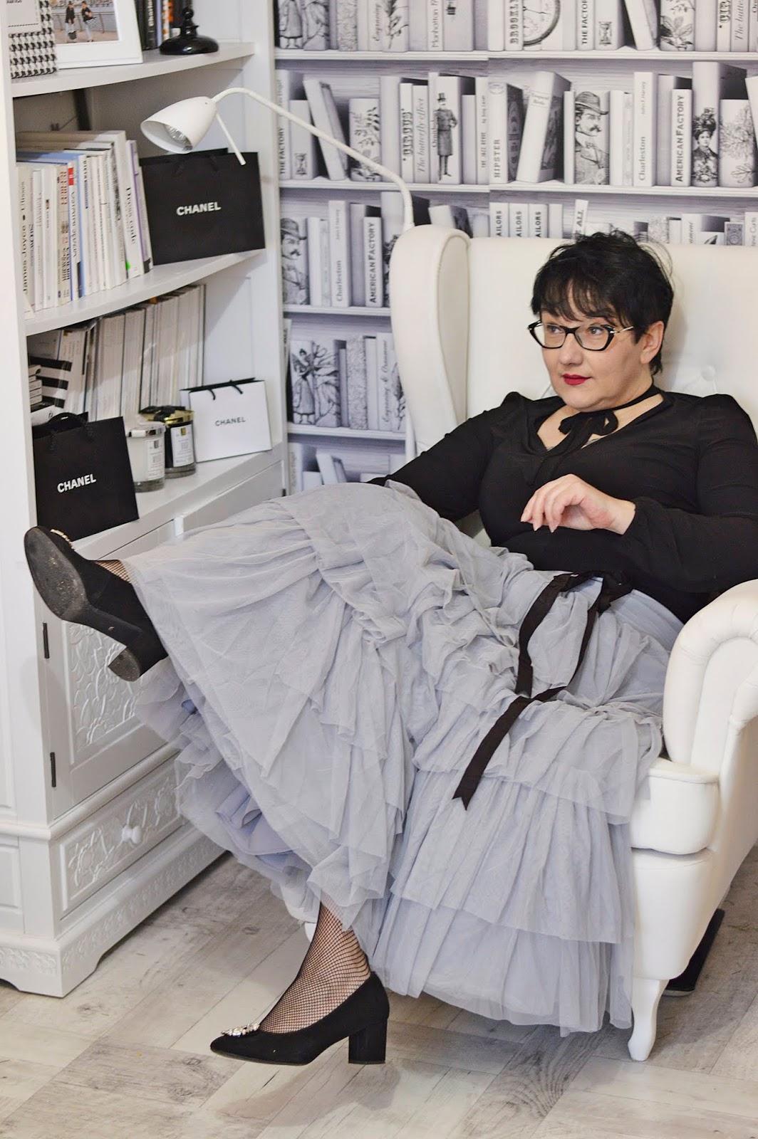 Tulle skirt, maxi skirt, glamour style