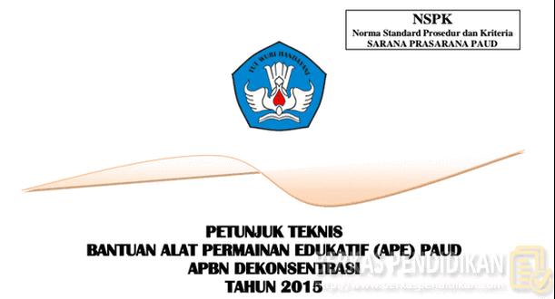 Juknis Bantuan Alat Permainan Edukatif (APE) PAUD 2015