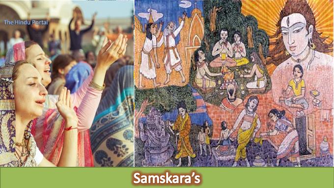 Samskara – 16 Hindu rites performed from birth to death