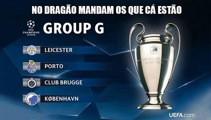 Memes Time - Classificação após a 1ª Jornada do Grupo G da Champions League: Porto 1 - Copenhaga 0 e Bruges 1 – Leicester 0 – No Dragão mandam os que cá estão