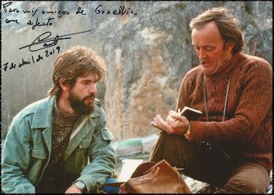 Carlos Sanz con Félix Rodríguez de la Fuente