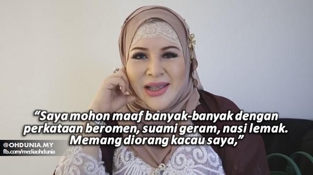 Video Kak Mawar Minta Maaf, Beri Alasan Dikacau Jurugambar