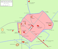 map of Mediolanum, Roman Milan